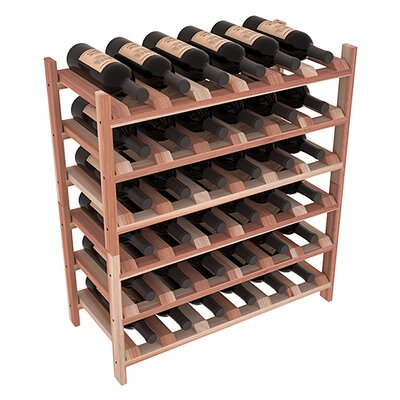 Karnes Redwood Stackable 36 Bottle Floor Wine Rack Finish: Natural