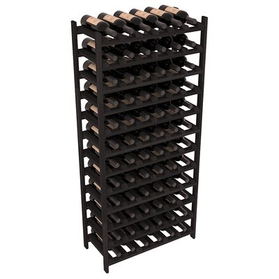 Karnes Redwood Stackable 72 Bottle Floor Wine Rack Finish: Black