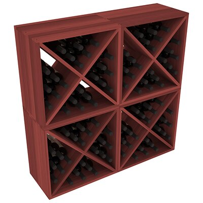 Karnes Redwood X-Cube 96 Bottle Floor Wine Rack Finish: Cherry