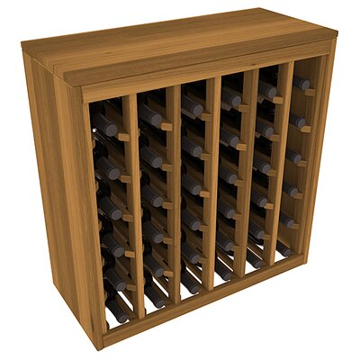 Karnes Redwood Deluxe 36 Bottle Floor Wine Rack Finish: Oak