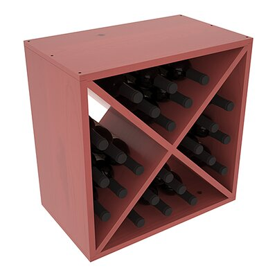 Karnes Pine X-Cube 24 Bottle Tabletop Wine Rack Finish: Cherry Satin