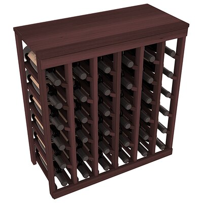 Karnes Redwood Table Top 36 Bottle Floor Wine Rack Finish: Walnut