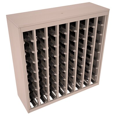 Karnes Pine Deluxe 64 Bottle Floor Wine Rack Finish: Gray Satin
