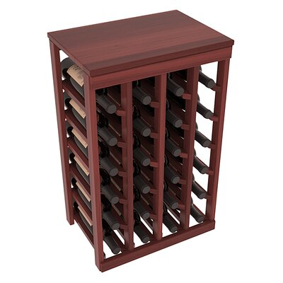 Karnes Redwood Table Top 24 Bottle Floor Wine Rack Finish: Cherry Satin