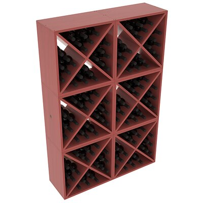 Karnes Pine X-Cube 144 Bottle Floor Wine Rack Finish: Cherry Satin