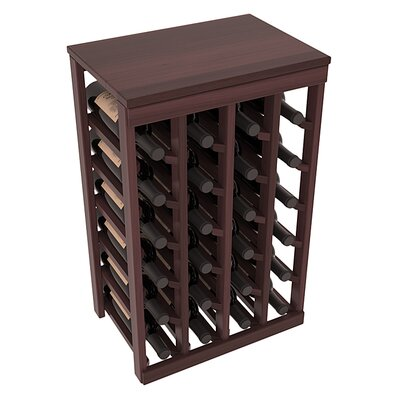 Karnes Redwood Table Top 24 Bottle Floor Wine Rack Finish: Walnut Satin