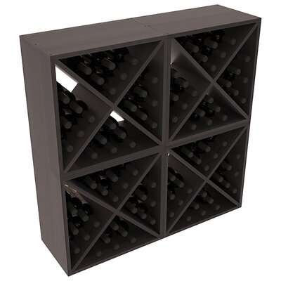 Karnes Redwood X-Cube 96 Bottle Floor Wine Rack Finish: Black Satin