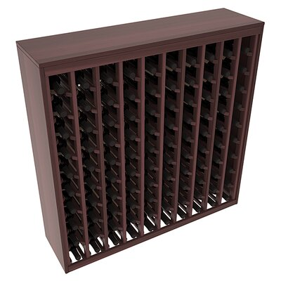 Karnes Redwood Deluxe 100 Bottle Floor Wine Rack Finish: Walnut Satin