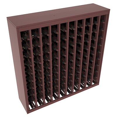 Karnes Pine Deluxe 100 Bottle Floor Wine Rack Finish: Walnut Satin