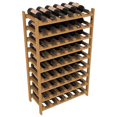 Karnes Pine Stackable 54 Bottle Floor Wine Rack Finish: Oak