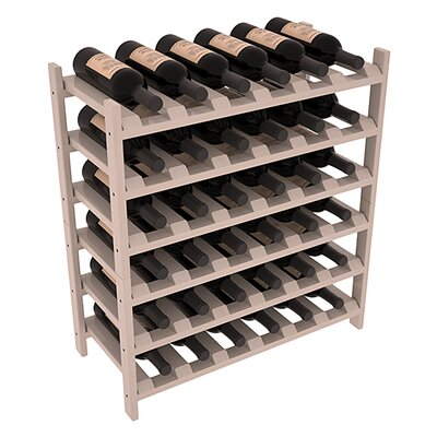 Karnes Pine Stackable 36 Bottle Floor Wine Rack Finish: Gray Satin