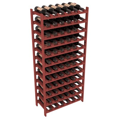 Karnes Pine Stackable 72 Bottle Floor Wine Rack Finish: Cherry