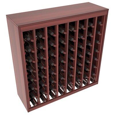 Karnes Redwood Deluxe 64 Bottle Floor Wine Rack Finish: Cherry Satin