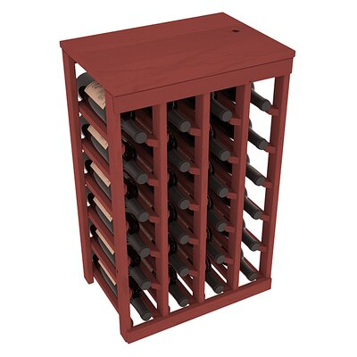 Karnes Pine 24 Bottle Floor Wine Rack Finish: Cherry