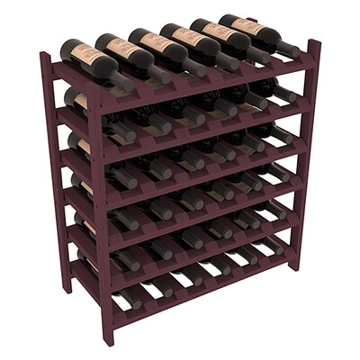 Karnes Pine Stackable 36 Bottle Floor Wine Rack Finish: Burgundy