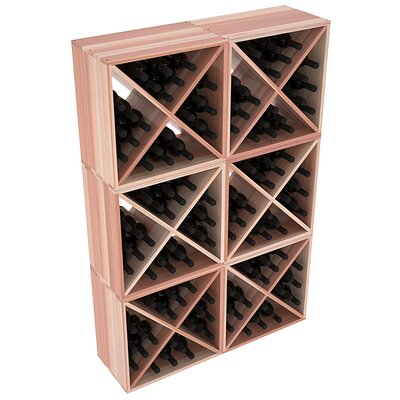 Karnes Redwood X-Cube 144 Bottle Floor Wine Rack Finish: Natural Satin