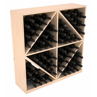 Karnes Pine Diamond Storage 96 Bottle Floor Wine Rack Finish: Natural Satin