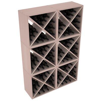 Karnes Redwood X-Cube 144 Bottle Floor Wine Rack Finish: Gray Satin
