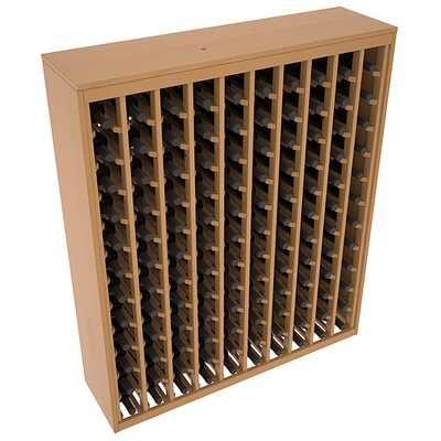 Karnes Pine Deluxe 120 Bottle Floor Wine Rack Finish: Oak Satin