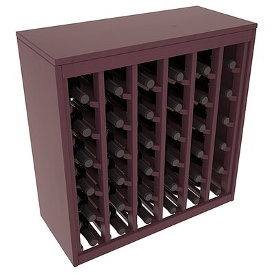 Karnes Pine Deluxe 36 Bottle Floor Wine Rack Finish: Burgundy Satin