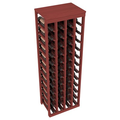 Karnes Pine 48 Bottle Floor Wine Rack Finish: Cherry
