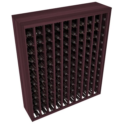 Karnes Redwood Deluxe 120 Bottle Floor Wine Rack Finish: Burgundy