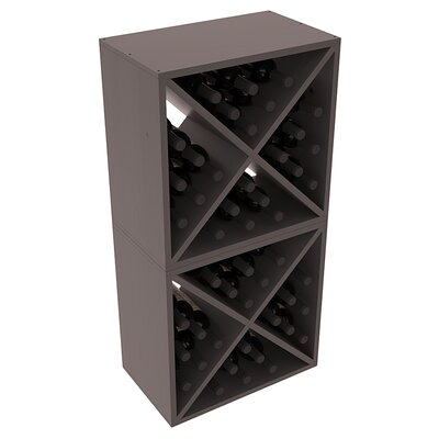 Karnes Pine X-Cube 48 Bottle Floor Wine Rack Finish: Black Satin