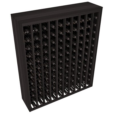 Karnes Redwood Deluxe 120 Bottle Floor Wine Rack Finish: Black