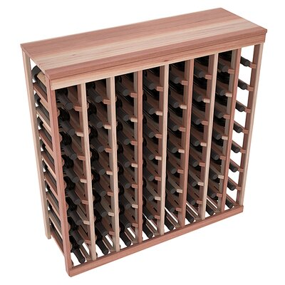 Karnes Redwood Table Top 64 Bottle Floor Wine Rack Finish: Natural Satin