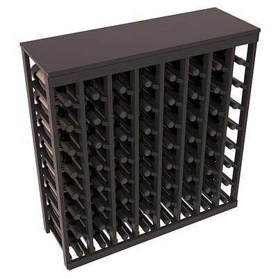 Karnes Pine 64 Bottle Floor Wine Rack Finish: Black Satin