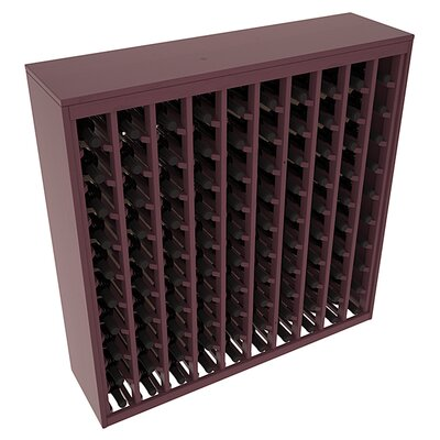 Karnes Pine Deluxe 100 Bottle Floor Wine Rack Finish: Burgundy Satin