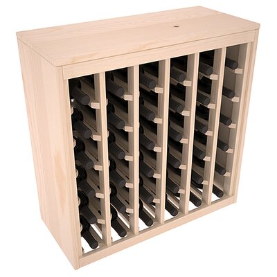 Karnes Pine Deluxe 36 Bottle Floor Wine Rack Finish: Natural Satin