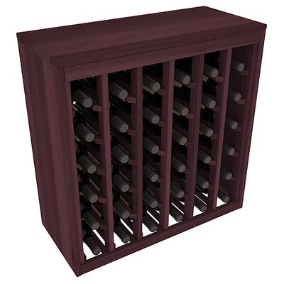 Karnes Redwood Deluxe 36 Bottle Floor Wine Rack Finish: Burgundy