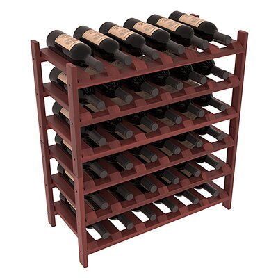 Karnes Redwood Stackable 36 Bottle Floor Wine Rack Finish: Cherry Satin