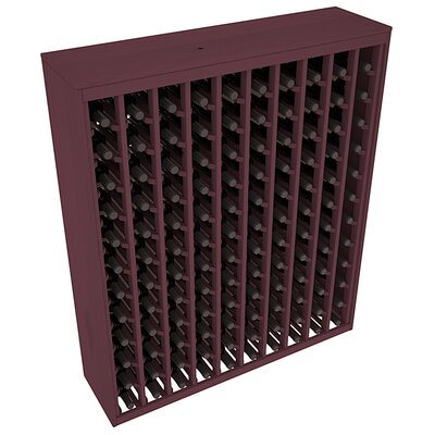 Karnes Pine Deluxe 120 Bottle Floor Wine Rack Finish: Burgundy