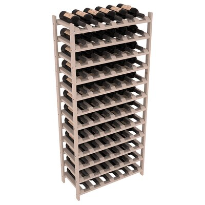 Karnes Pine Stackable 72 Bottle Floor Wine Rack Finish: Gray