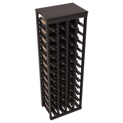 Karnes Redwood Table Top 48 Bottle Floor Wine Rack Finish: Black Satin