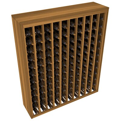 Karnes Redwood Deluxe 120 Bottle Floor Wine Rack Finish: Oak