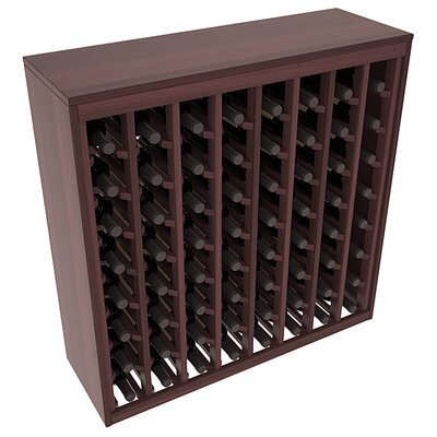 Karnes Redwood Deluxe 64 Bottle Floor Wine Rack Finish: Walnut Satin