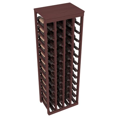 Karnes Pine 48 Bottle Floor Wine Rack Finish: Walnut