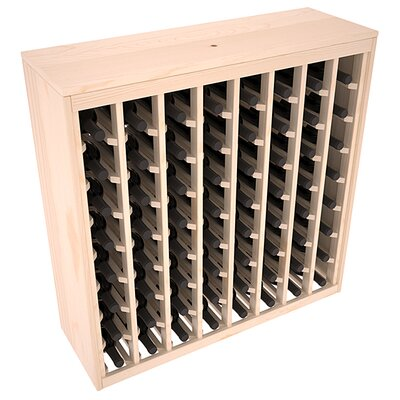 Karnes Pine Deluxe 64 Bottle Floor Wine Rack Finish: Natural Satin