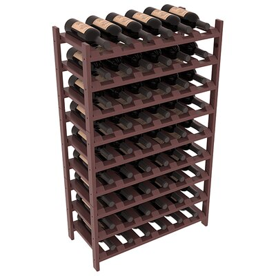 Karnes Pine Stackable 54 Bottle Floor Wine Rack Finish: Walnut Satin