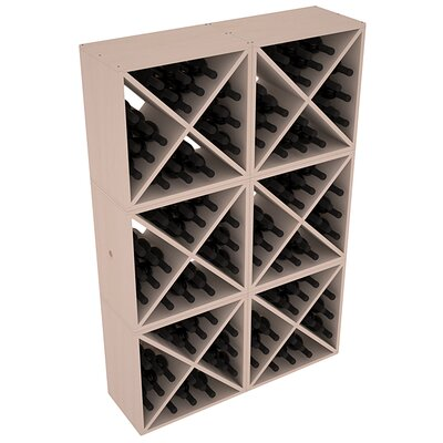 Karnes Pine X-Cube 144 Bottle Floor Wine Rack Finish: Gray