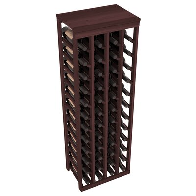 Karnes Redwood Table Top 48 Bottle Floor Wine Rack Finish: Walnut