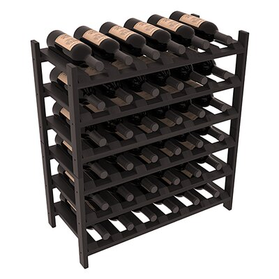 Karnes Redwood Stackable 36 Bottle Floor Wine Rack Finish: Black Satin