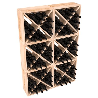 Karnes Pine Rustic Cube 144 Bottle Floor Wine Rack Finish: Natural