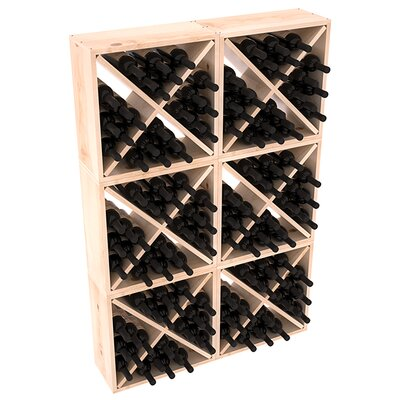 Karnes Pine Rustic Cube 144 Bottle Floor Wine Rack Finish: Natural Satin