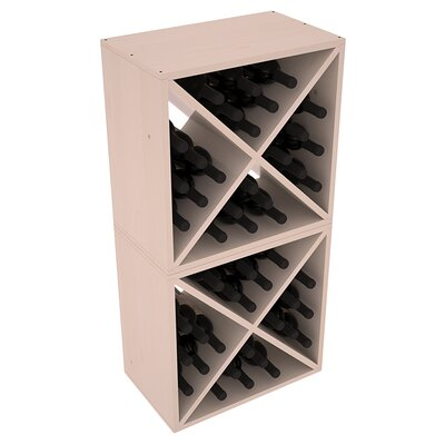 Karnes Pine X-Cube 48 Bottle Floor Wine Rack Finish: Gray Satin