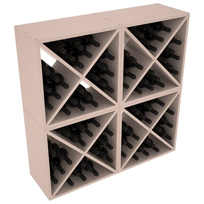 Karnes Pine X-Cube 96 Bottle Floor Wine Rack Finish: Gray Satin