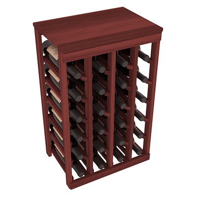 Karnes Redwood Table Top 24 Bottle Floor Wine Rack Finish: Cherry